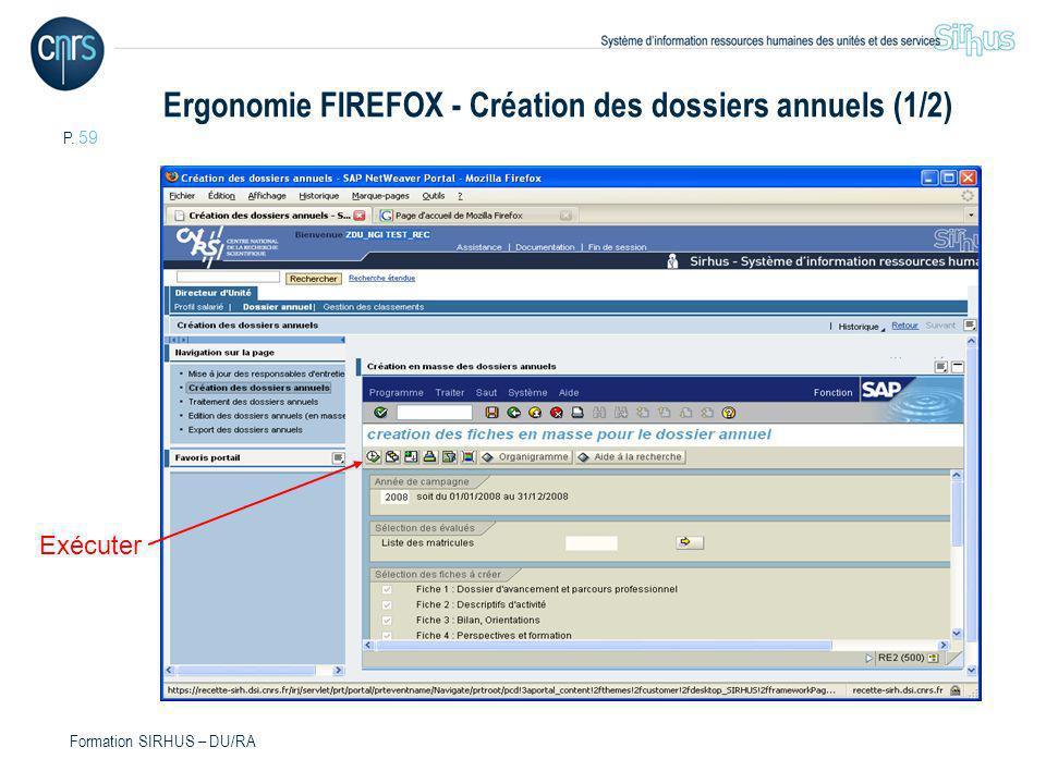 Ergonomie FIREFOX - Création des dossiers annuels (1/2)