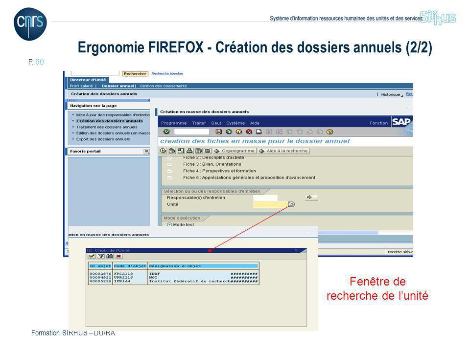 Ergonomie FIREFOX - Création des dossiers annuels (2/2)