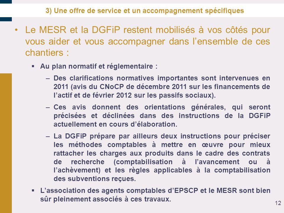 3) Une offre de service et un accompagnement spécifiques