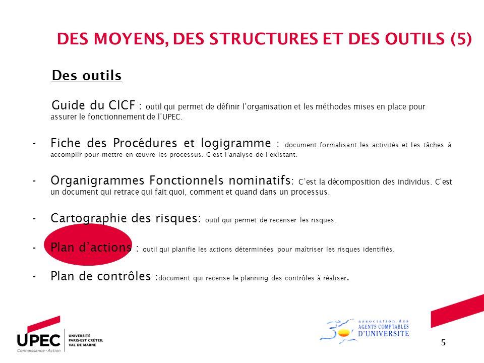 DES MOYENS, DES STRUCTURES ET DES OUTILS (5)