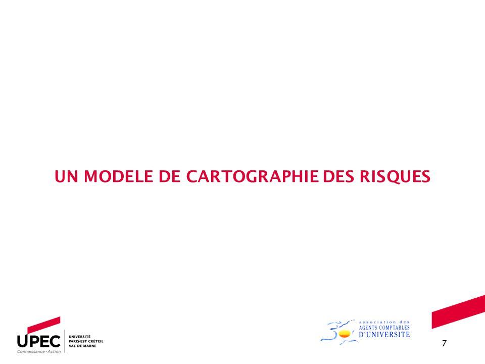 UN MODELE DE CARTOGRAPHIE DES RISQUES