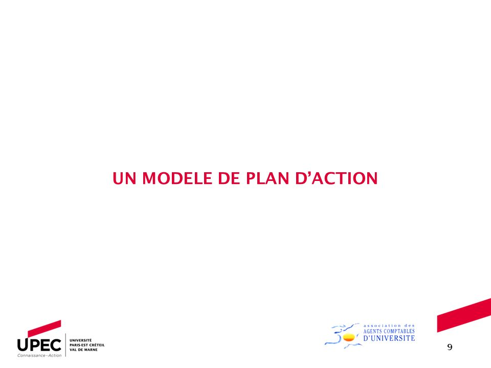 UN MODELE DE PLAN D'ACTION