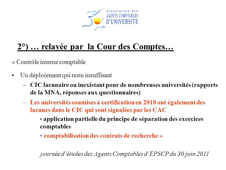 2°) … relayée par la Cour des Comptes…