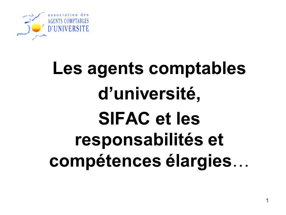 SIFAC et les responsabilités et compétences élargies…