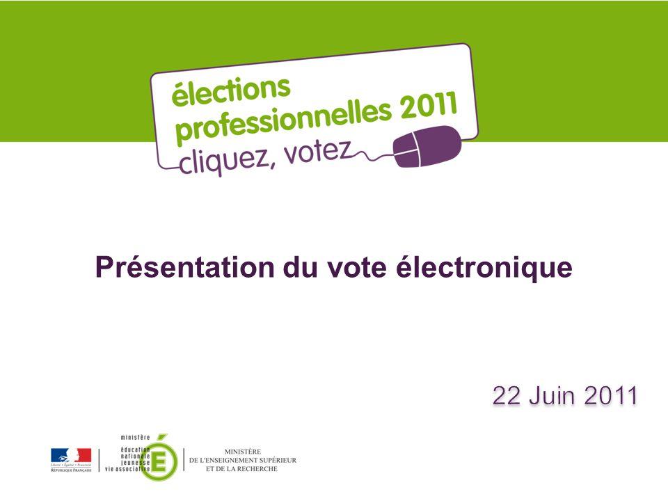 Présentation du vote électronique
