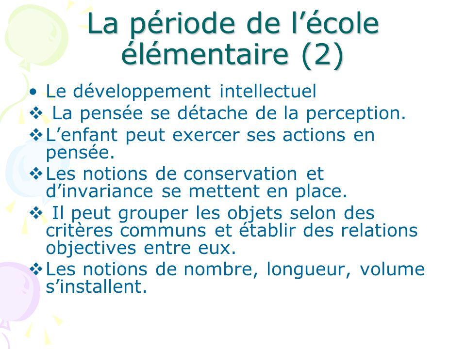 La période de l'école élémentaire (2)