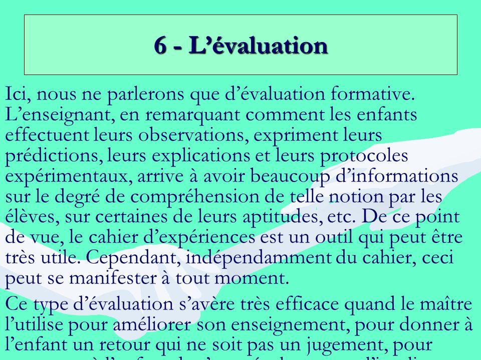 6 - L'évaluation
