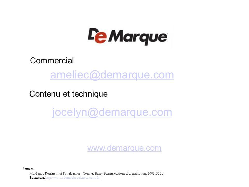 ameliec@demarque.com jocelyn@demarque.com Commercial
