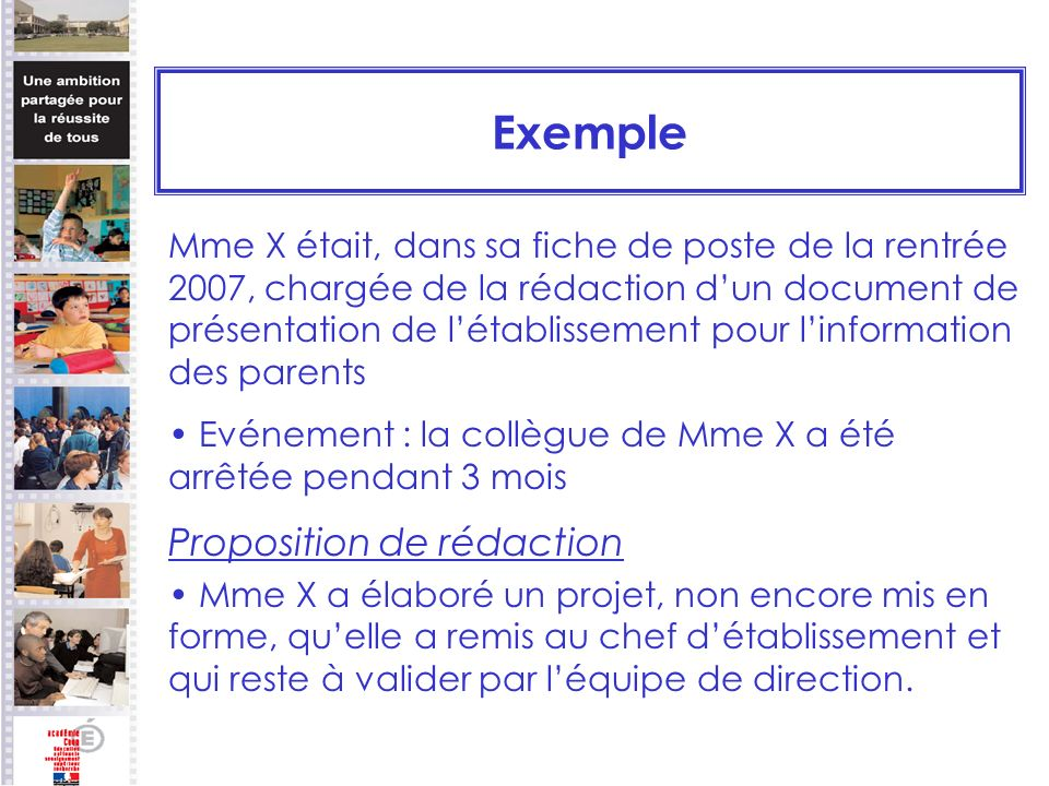 Exemple Proposition de rédaction