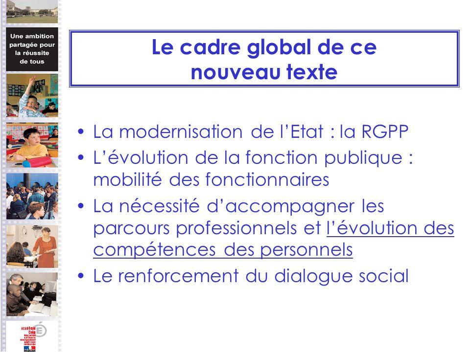 Le cadre global de ce nouveau texte