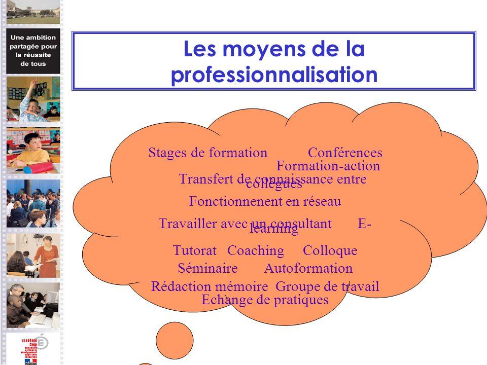 Les moyens de la professionnalisation