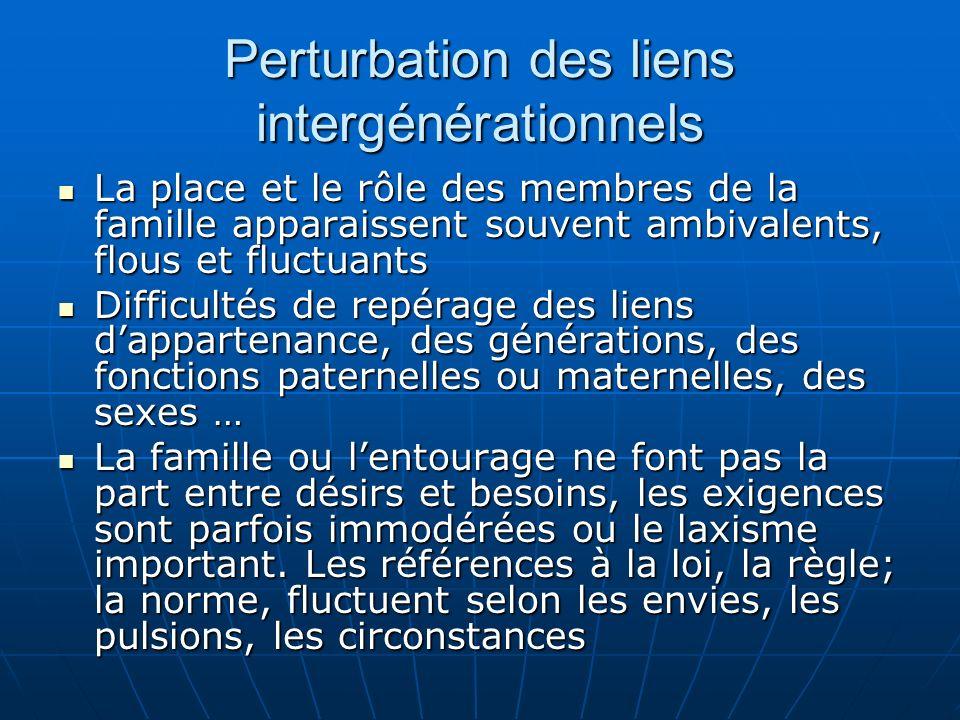 Perturbation des liens intergénérationnels