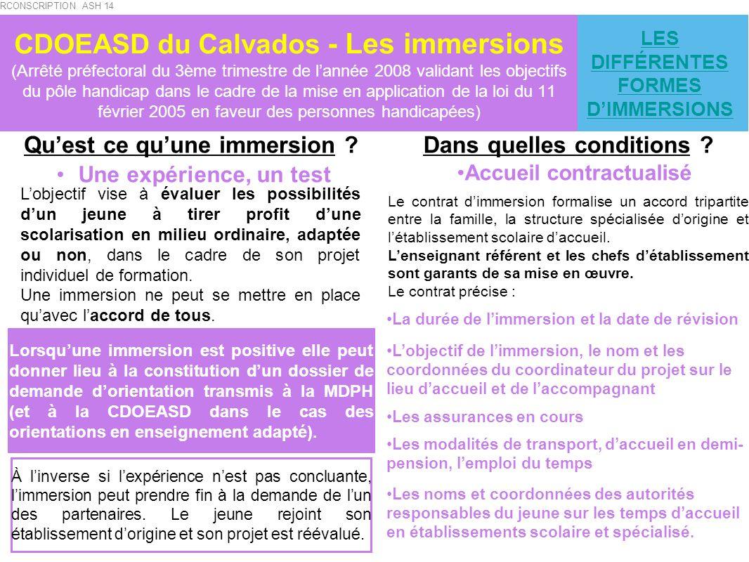 LES DIFFÉRENTES FORMES D'IMMERSIONS