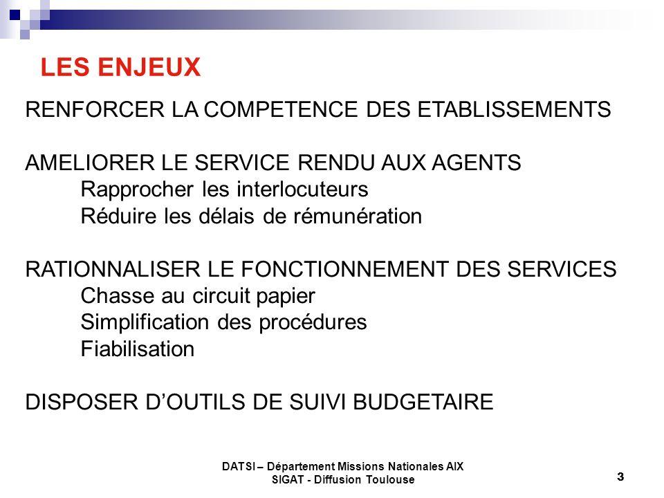 LES ENJEUX RENFORCER LA COMPETENCE DES ETABLISSEMENTS