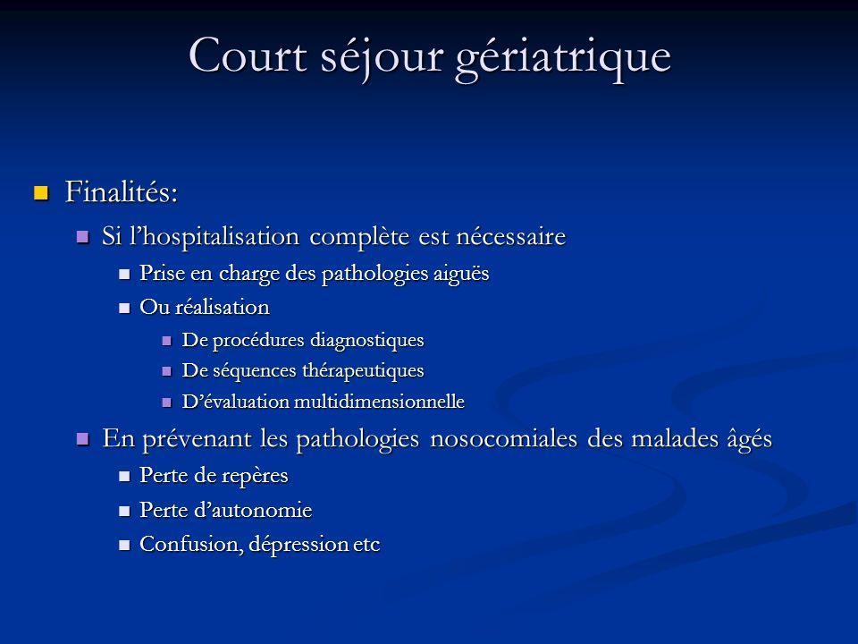 Court séjour gériatrique