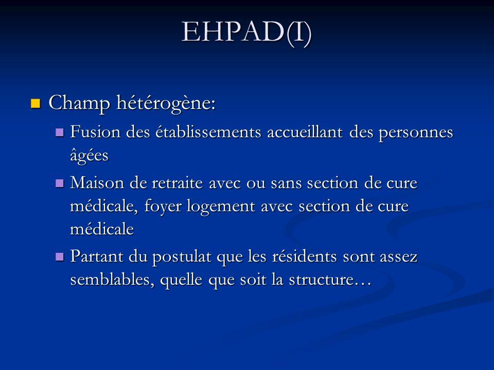 EHPAD(I) Champ hétérogène: