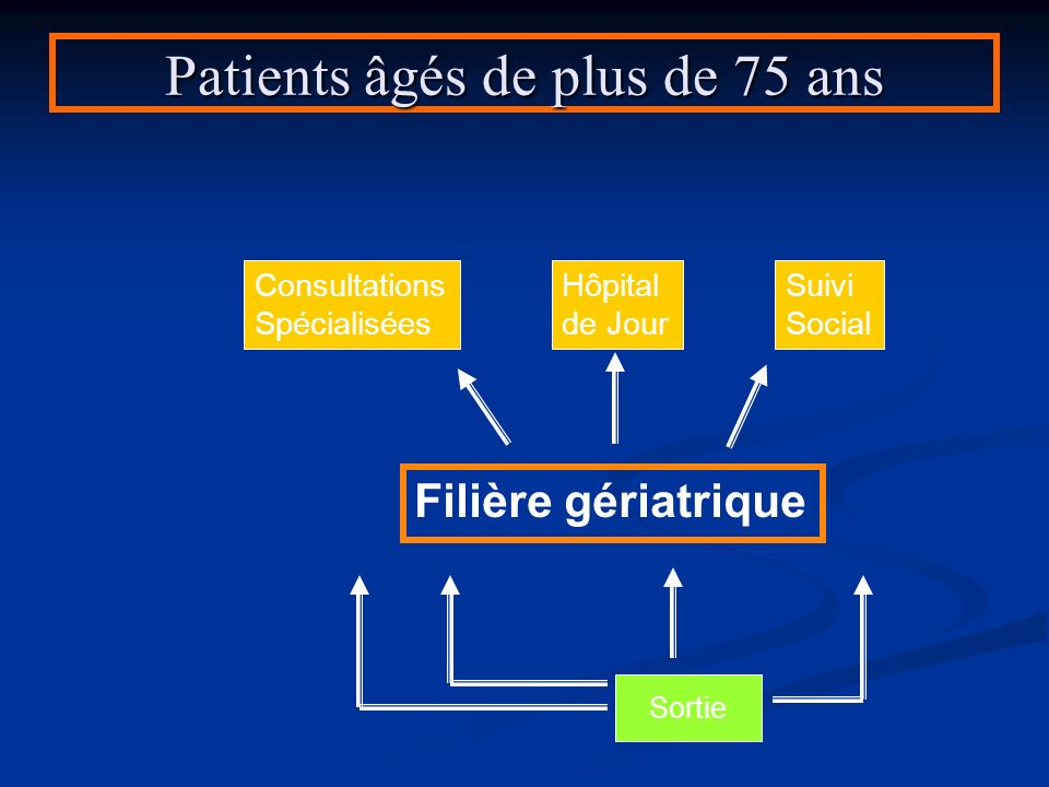 Patients âgés de plus de 75 ans