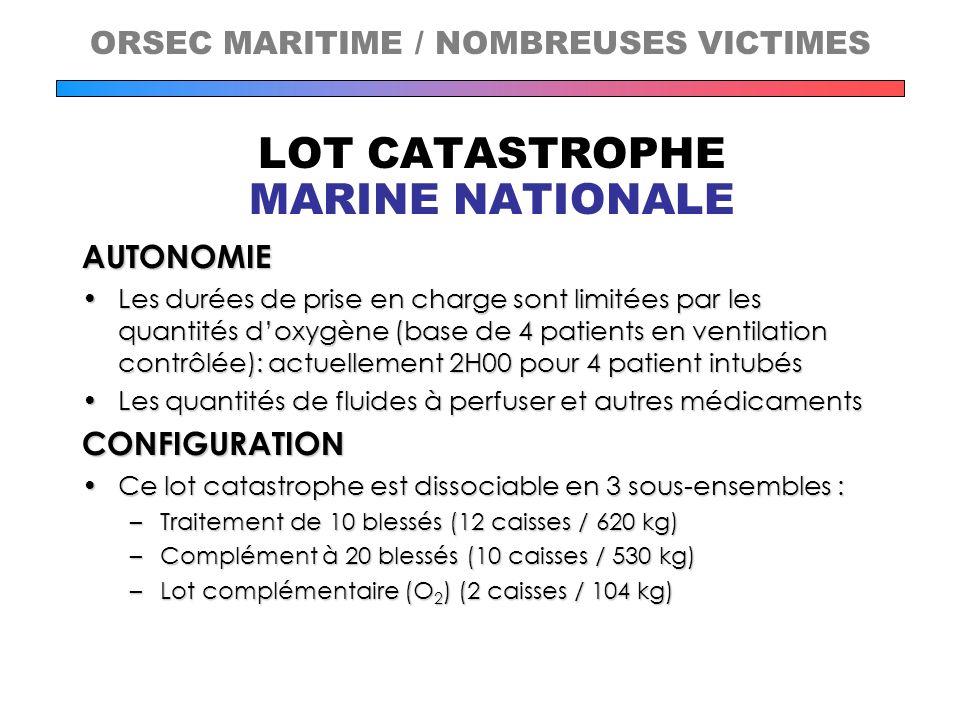 ORSEC MARITIME / NOMBREUSES VICTIMES