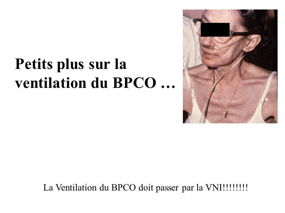 Petits plus sur la ventilation du BPCO …
