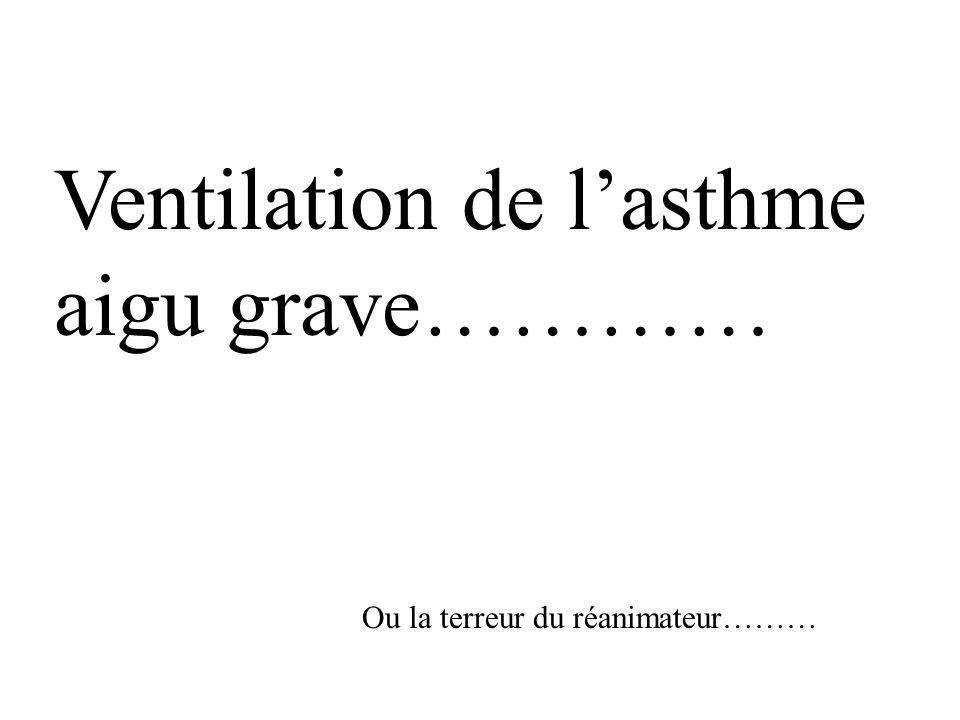 Ventilation de l'asthme aigu grave…………