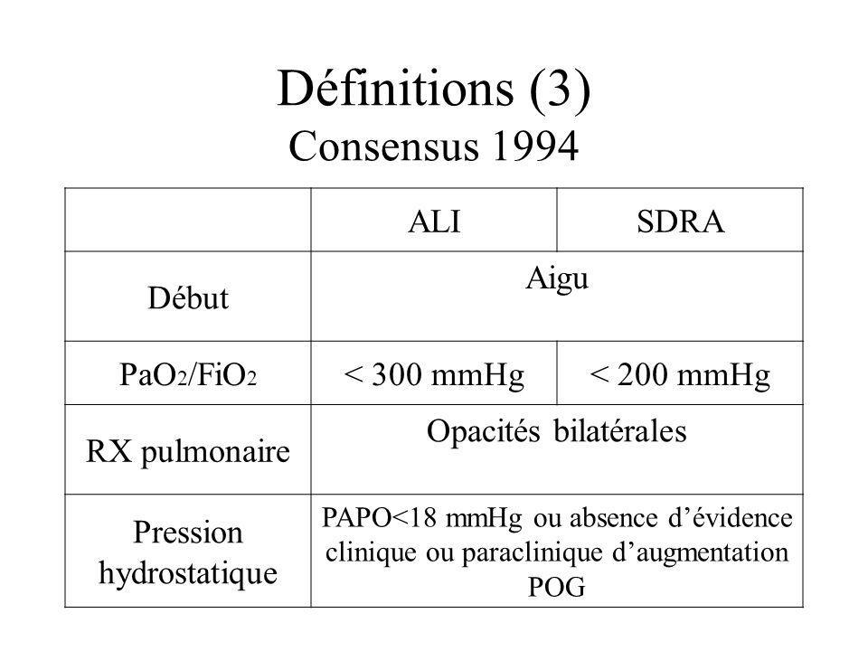 Définitions (3) Consensus 1994