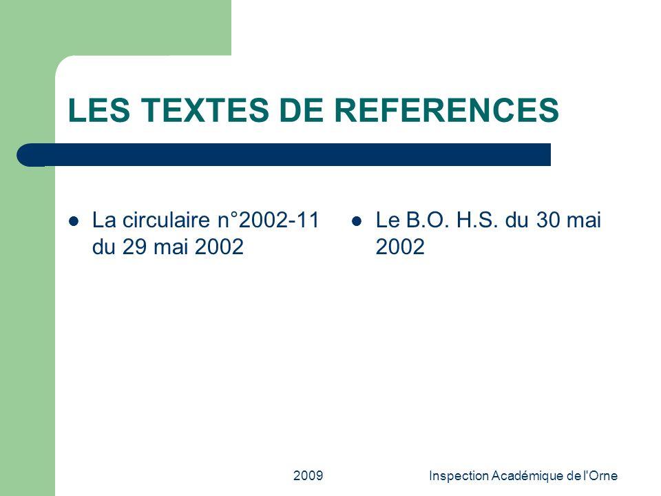 LES TEXTES DE REFERENCES