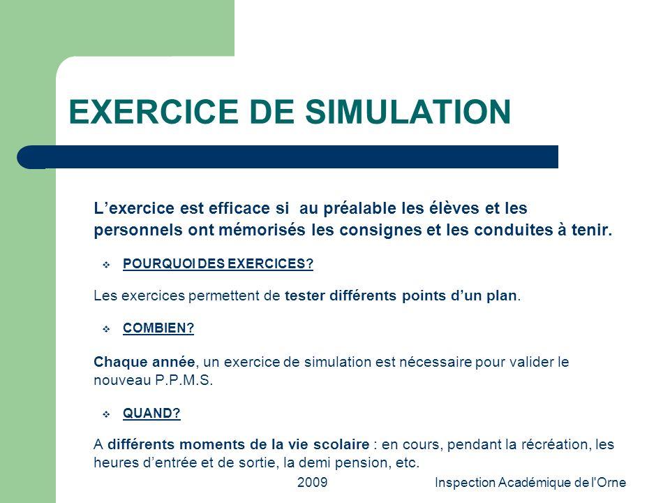 EXERCICE DE SIMULATION