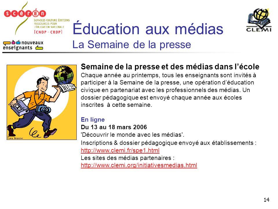 Éducation aux médias La Semaine de la presse