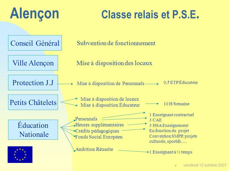 Alençon Classe relais et P.S.E.