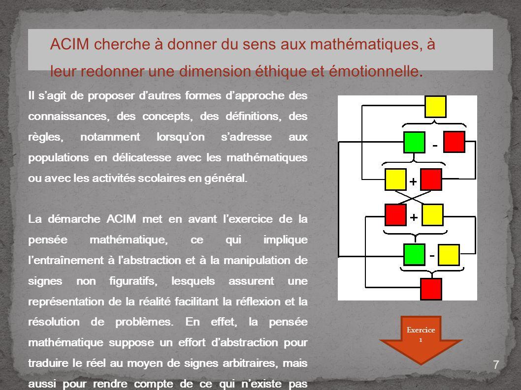 ACIM cherche à donner du sens aux mathématiques, à