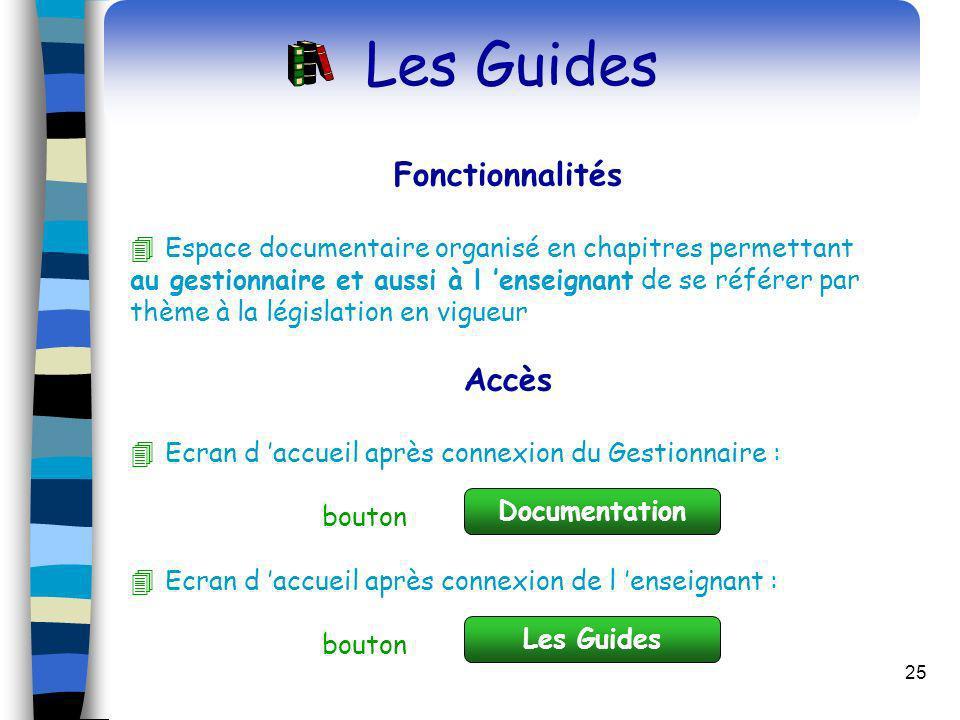 Les Guides Fonctionnalités Accès