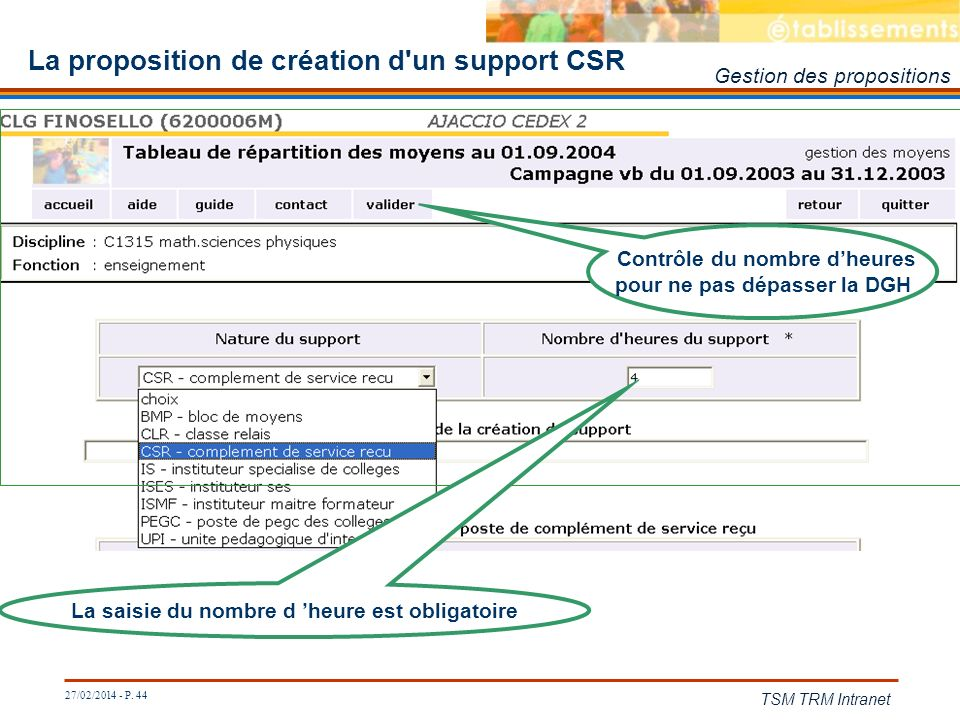 La proposition de création d un support CSR