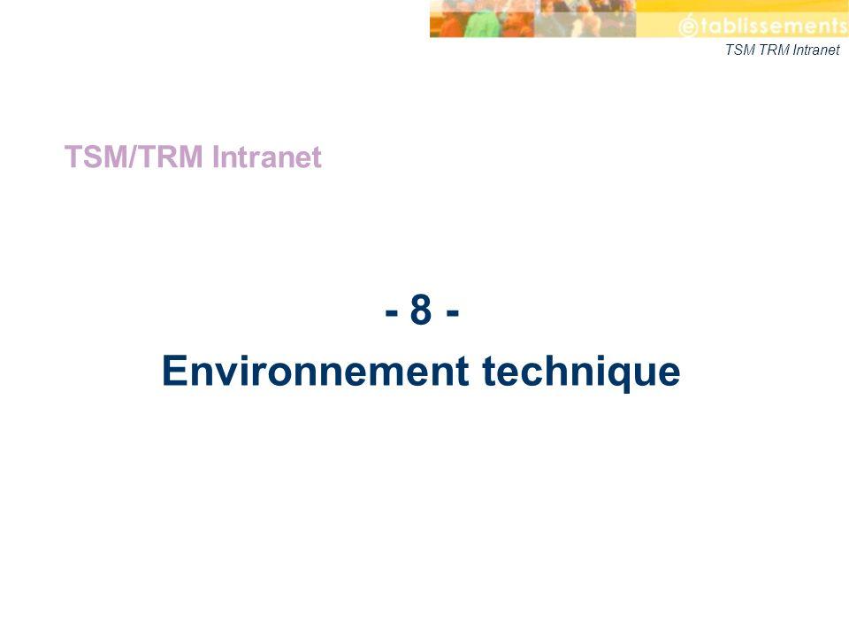 - 8 - Environnement technique