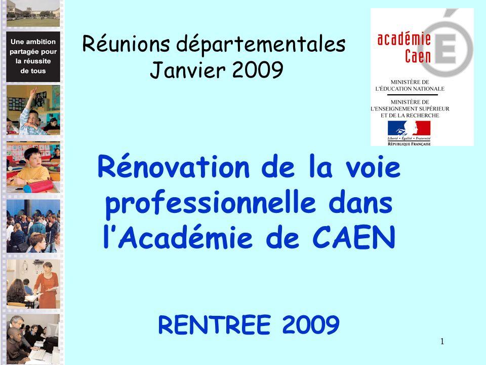 Rénovation de la voie professionnelle dans l'Académie de CAEN