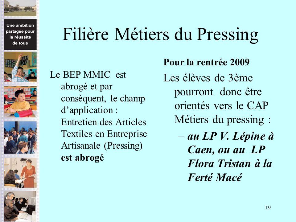 Filière Métiers du Pressing