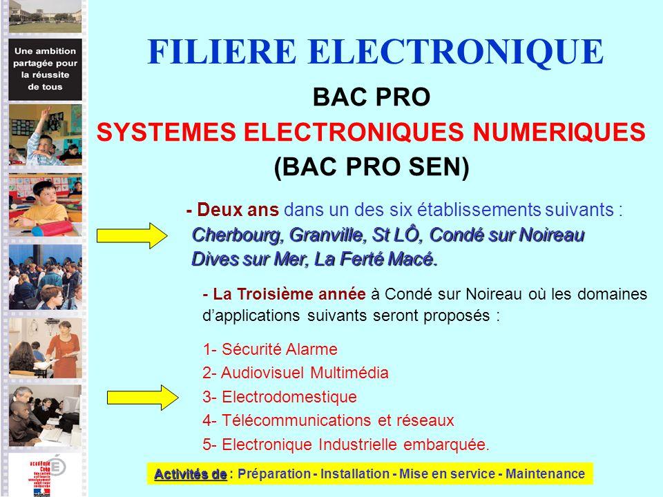SYSTEMES ELECTRONIQUES NUMERIQUES