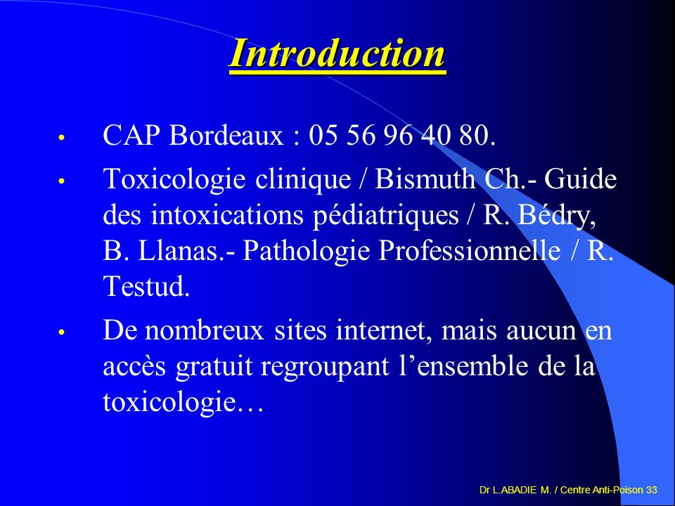 Introduction CAP Bordeaux : 05 56 96 40 80.