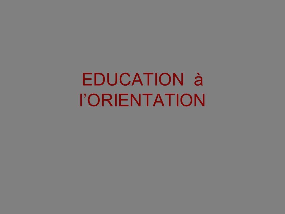 EDUCATION à l'ORIENTATION