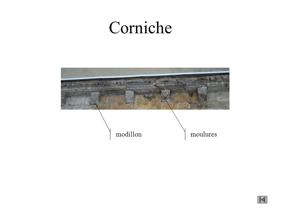 Corniche modillon moulures