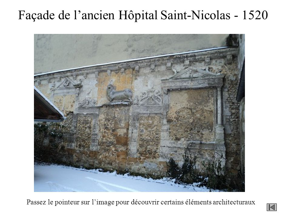 Façade de l'ancien Hôpital Saint-Nicolas - 1520