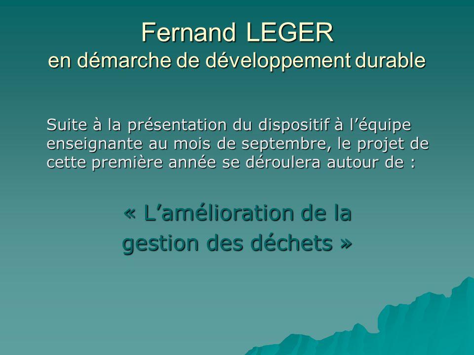 Fernand LEGER en démarche de développement durable