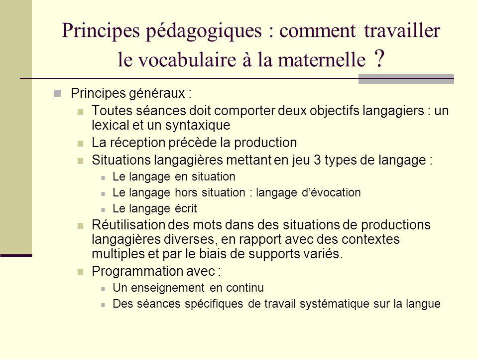 Principes pédagogiques : comment travailler le vocabulaire à la maternelle