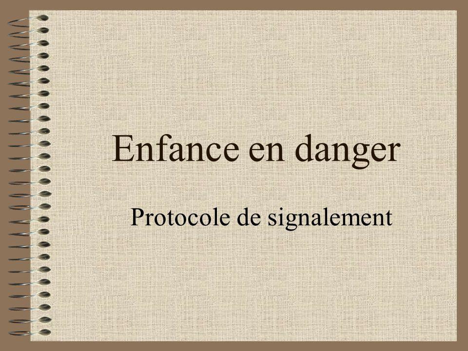 Protocole de signalement