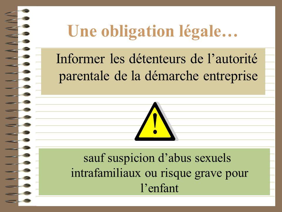 Une obligation légale…