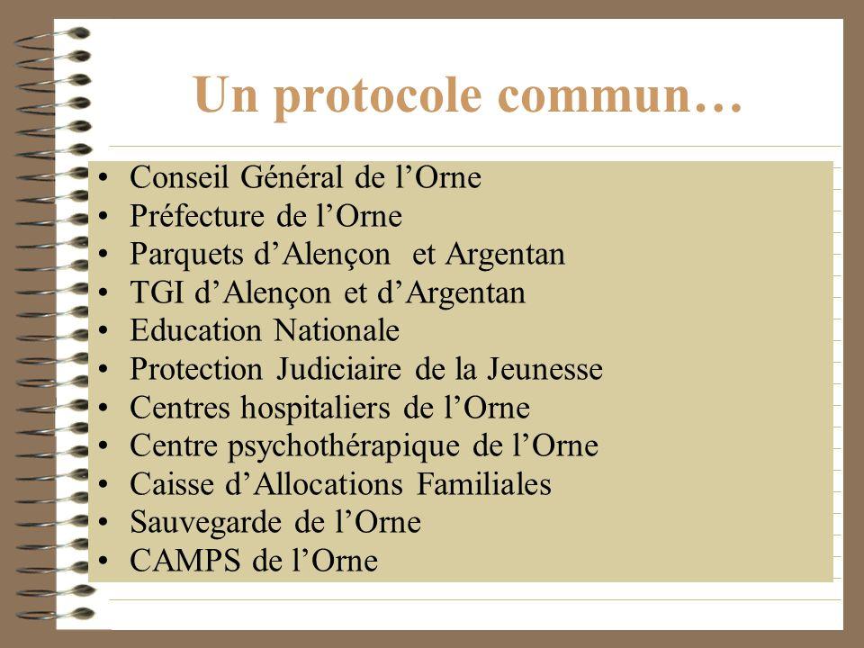 Un protocole commun… Conseil Général de l'Orne Préfecture de l'Orne