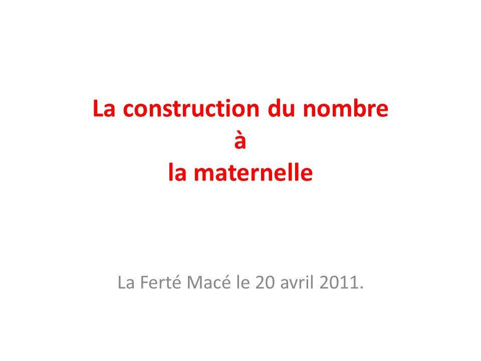 La construction du nombre à la maternelle
