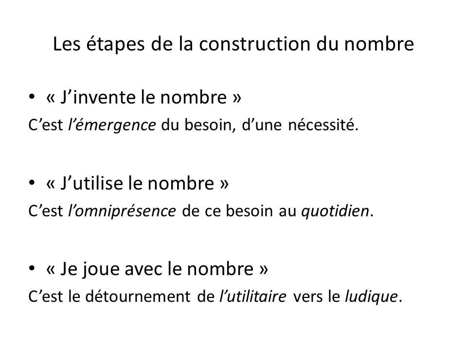 Les étapes de la construction du nombre