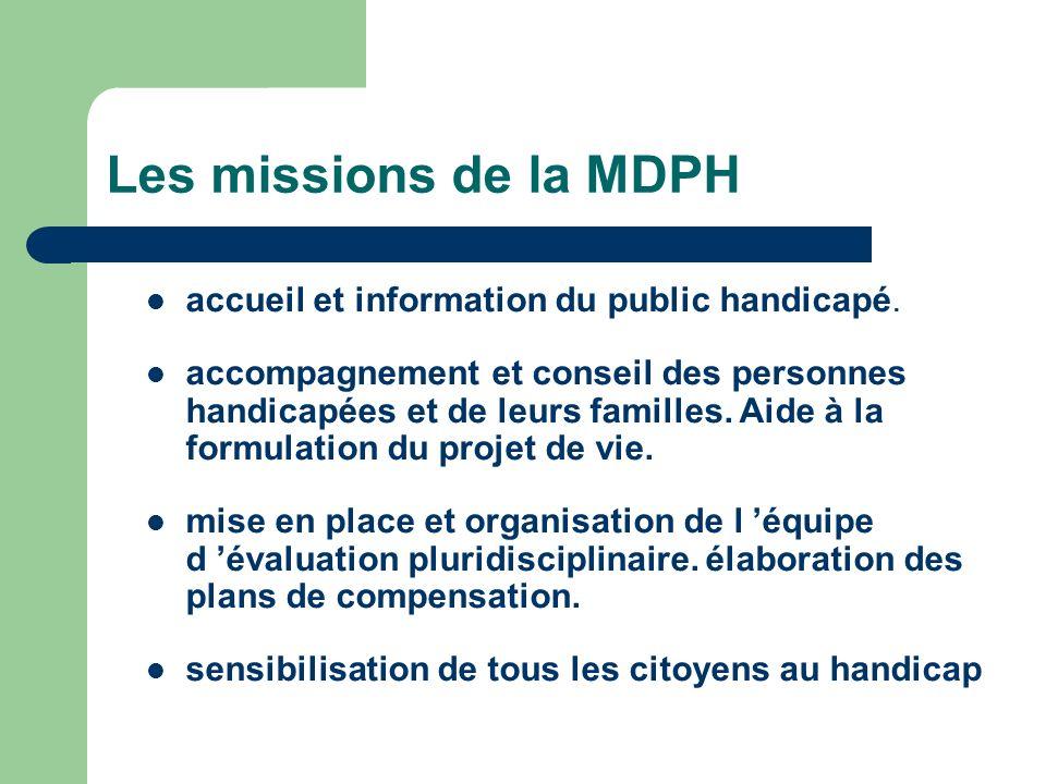 Les missions de la MDPH accueil et information du public handicapé.