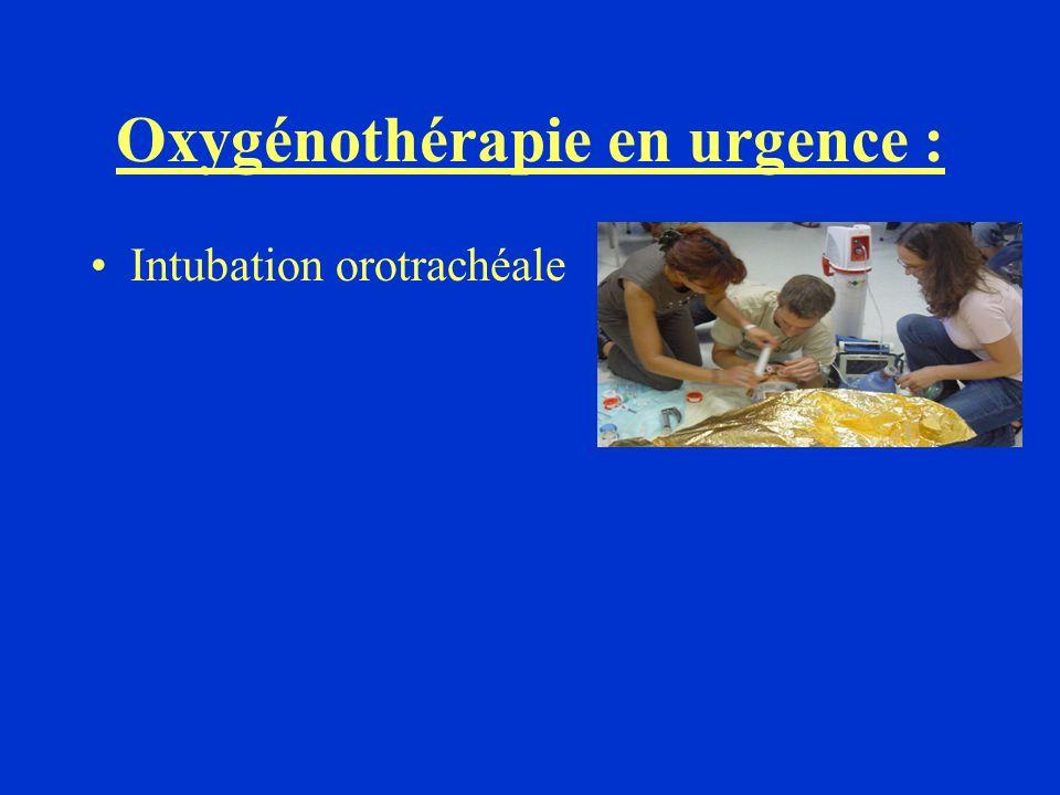 Oxygénothérapie en urgence :