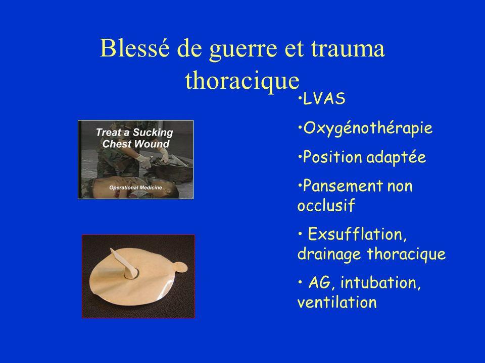 Blessé de guerre et trauma thoracique